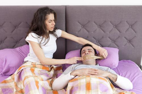 Snoring man problem